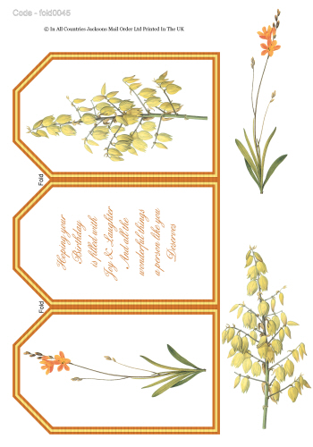 Tri Fold Card - Floral Birthday 3d Card Art RRP 75p