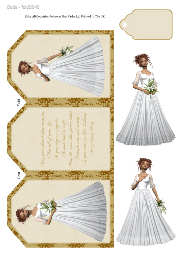 Tri Fold Card - Wedding Day 3D Card Art RRP 75p