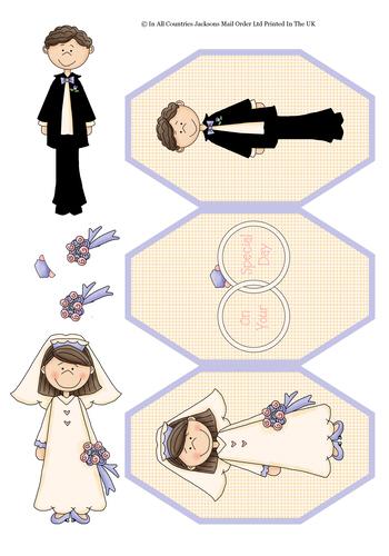 Tri Fold Card - The Wedding Day 3d Card Art RRP 75p