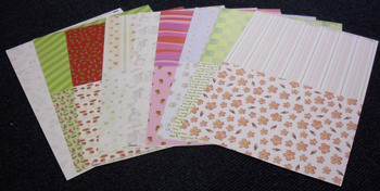 10 x pack of Backing papers t papertole.co.uk