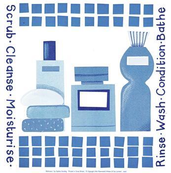 Scrub/Cleanse/Moisturise - 8 x 8 Print sophie harding