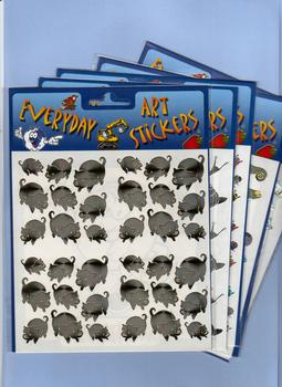 Pack of 5x Foilart stickers papertole.co.uk