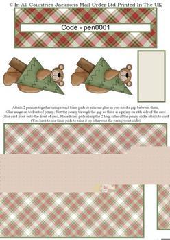 Penny Slider - Christmas Bear Penny RRP 75p