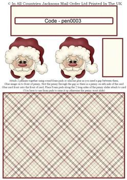 Santa / Father Christmas / Saint Nicholas / Kris Kindle - Penny Slider Sheet . -Jacksons mail Order