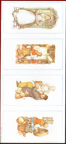 Pack of 5 - Anton Pieck Panel - The Butler, The Jelly Lady, The Spinning Wheel and The Gentleman Anton Pieck