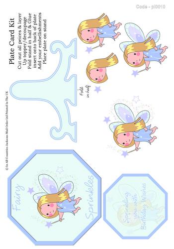 Birthday Plate Card - Fairy Sprinkles 3D Card Art RRP 85p