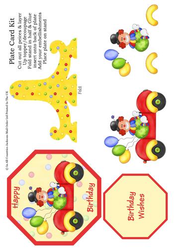 Plate Card - Happy Birthday 3d Card Art RRP 85p