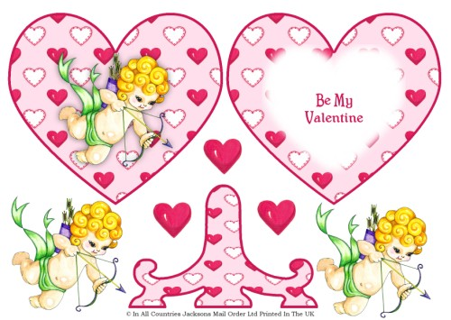 Plate Card - Valentine Cupid 3d Card Art RRP 85p