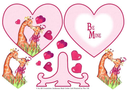 Plate Card - Valentine Be Mine 3d Card Art RRP 85p