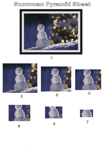 Pyramid Sheet - Snowman 3D Card Art Photo Pyramid