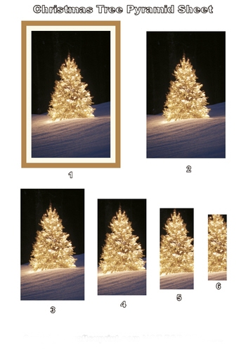 Pyramid Sheet - Christmas Tree 3d Card Art Photo Pyramid