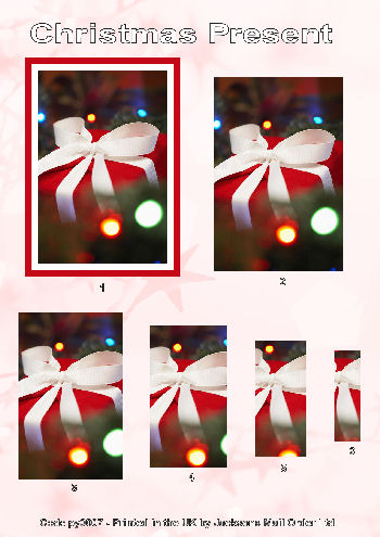 Red & White Beautiful Christmas Present - Pyramid Sheet . -Jacksons mail Order