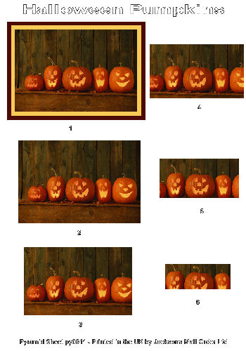 Pyramid Sheet - Halloween Pumpkins 3D Card Art Photo Pyramid