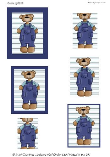 Large Pyramid - Teddy Bear 3d Card Art RRP 75p