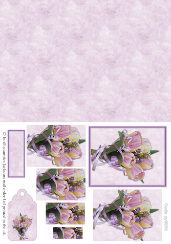Floral Pyramid Combi Sheet 1 3d Card Art RRP 75p