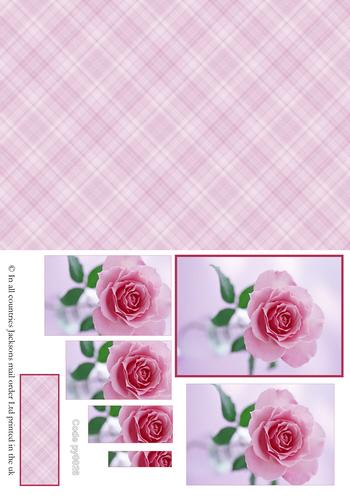 Floral Pyramid Combi Sheet 3 3d Card Art RRP 75p