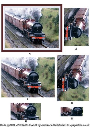 Large Pyramid - Steam Train 3d Card Art RRP 75p