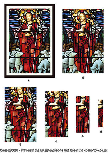Large Pyramid - Stained Glass Window 3d Card Art RRP 75p