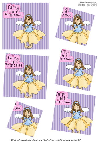 Large Twisted Pyramid - Fairy Princess 3d Card Art RRP 75p