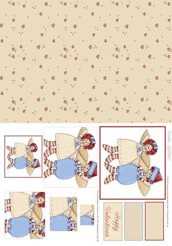 Valentine Combination Pyramid 1 3D Card Art RRP 75p
