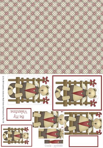 Valentine Combination Pyramid 7 3d Card Art RRP 75p