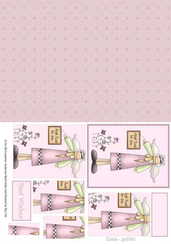 Birthday Combination Pyramid 1 3d Card Art RRP 75p