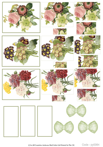Multi Pyramid Sheet - Flowers 3d Card Art RRP 75p