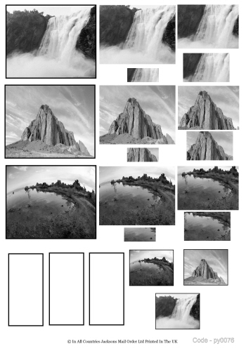 Multi Pyramid Sheet - Photo Nouveux Scenic 3D Card Art RRP 75p
