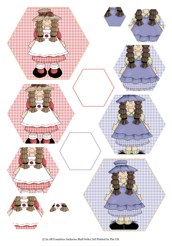 Multi Hexagon Pyramid Sheet - My Special Girl 3d Card Art RRP 75p