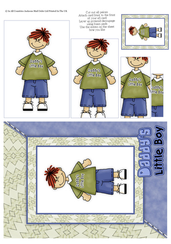 Card Front With Pyramid - Daddy's Little Boy 3d Card Art RRP 75p