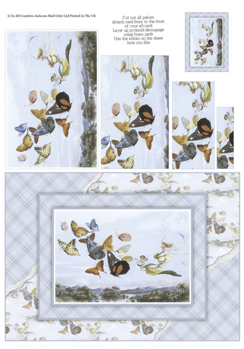Card Front With Pyramid - Butterflies and Fairies 3d Card Art RRP 75p