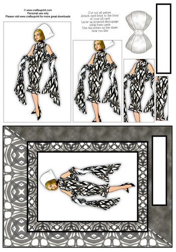 Card Front With Pyramid - Fashion 6 3d Card Art RRP 75p