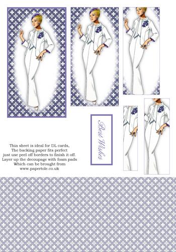 DL Pyramid Cards - Fashion 9 3d Card Art RRP 75p