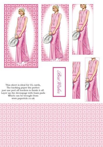 DL Pyramid Cards - Fashion 10 3d Card Art RRP 75p