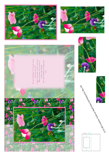 Card Front With Pyramid - Floral Photo Pic 1 3d Card Art RRP 75p