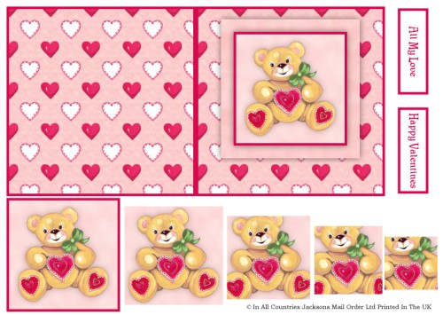 Card Front With Pyramid - Teddy 3d Card Art RRP 75p