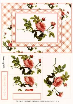 Card Front With Pyramid - Red Rose 3d Card Art RRP 75p