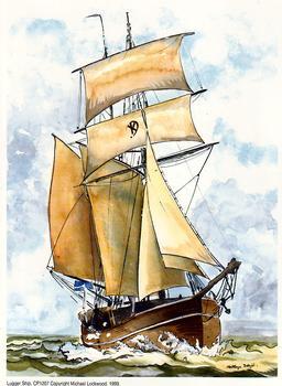 Lugger Ship CP1207 - 6