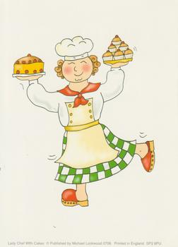 Chef with Cake / Buns / Cup Cakes - Michael Lockwood - 4
