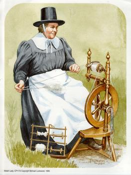 Welsh Lady - Spinning Wheel 6.5