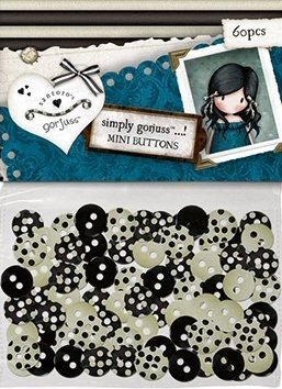 Gorjuss - Polka Mini Buttons (60Pcs) . *