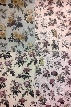 A4 Backing Paper Floral Set - Pack of 4 . *