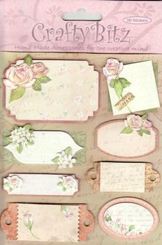 Crafty Bitz - Floral / Sentiment / Toppers  - 3D Stickers . Jacksons Mail Order