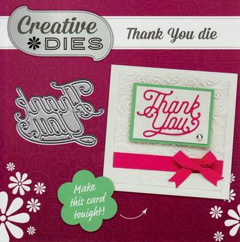 Creative Dies  THANK YOU  Luxury Die - For Card Making & Scrapbooking *