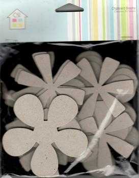 Chipboard Flower - Blank - by Craft House *