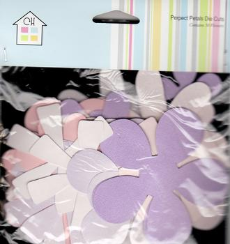 Chipboard Pastel Colour Flower - Blank - by Craft House . *
