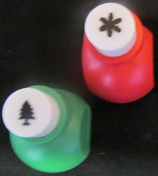 2 x Craft Hole Punches - Christmas Tree and Snowflake *