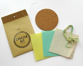 Coaster Kit - Cork Felt and Matching Thread *