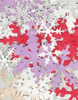 Snowflakes for Christmas Cards & Scrap Booking - Various sizes & Colours - About 100 .