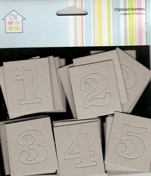 Chipboard Numbers - Blank - by Craft House 151ps .